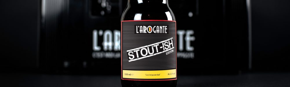 L'Arogante dark and hoppy beer